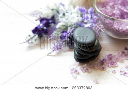 Lavender Aromatherapy Spa With Rock