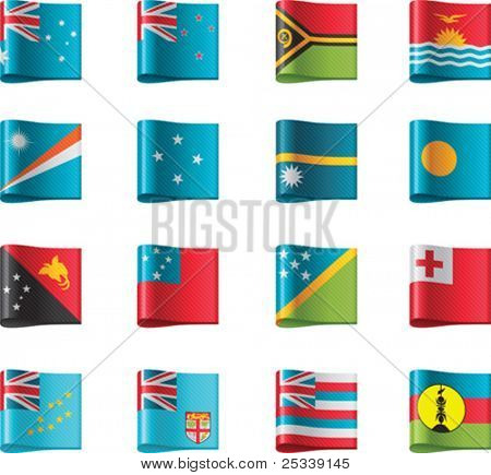 Vector flags. Oceania, part 11