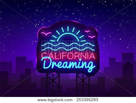 California Neon Sign Vector California