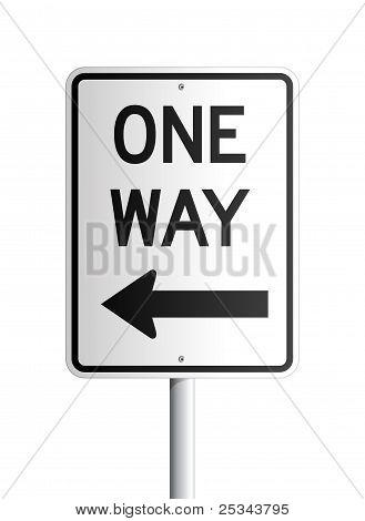 One way board