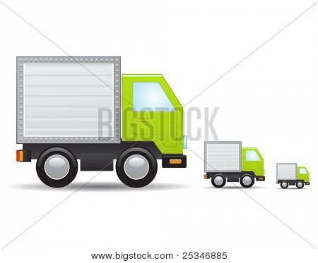 Green truck icon