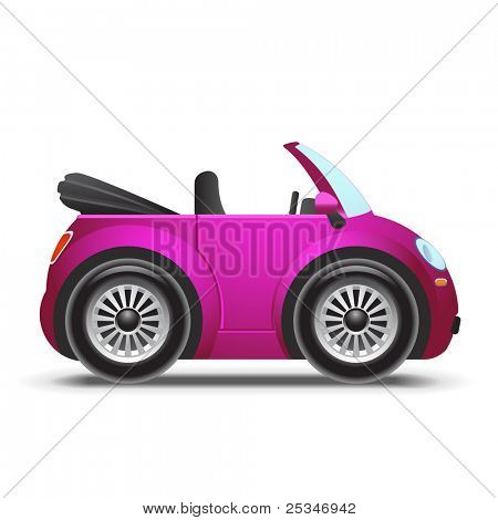 Pink cabriolet