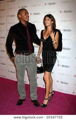 LOS ANGELES - NOV 16:  Mehcad Brooks, Elisabetta Canalis arrives at the Google Music Launch at Mr. Brainwash Studio on November 16, 2011 in Los Angeles, CA