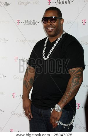 LOS ANGELES - NOV 16:  Busta Rhymes arrives at the Google Music Launch at Mr. Brainwash Studio on November 16, 2011 in Los Angeles, CA