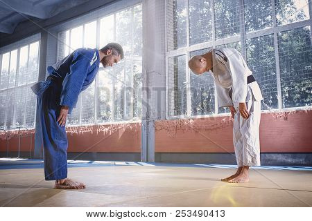 Two Judo Fighters Or Athletes