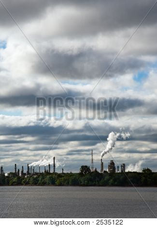 Industrial Landscape Global Warming.