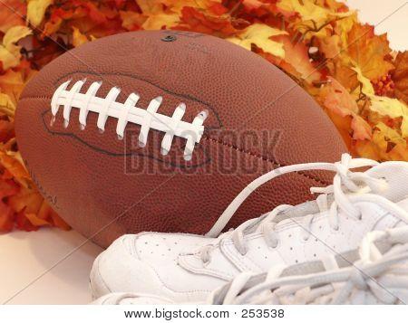 Football Shoes & Leaves