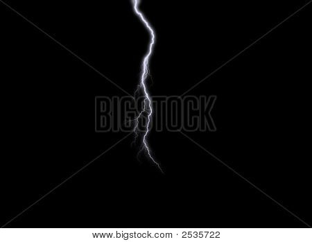Lightning Against A Black Sky