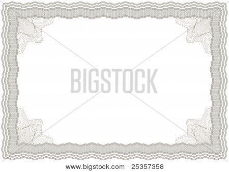 Guilloche horizontal frame