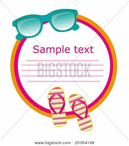 sunglasses and flip flops