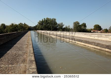 Canal Du Midi At Beziers, France