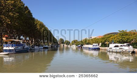 Canal Du Midi In Beziers, France