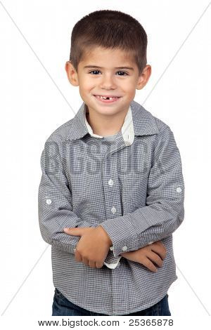 Funny baby isolated on a over white background