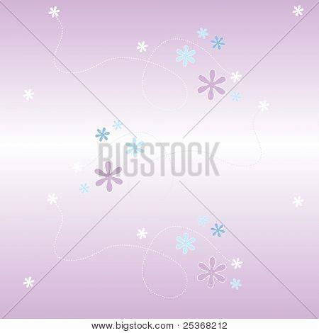 seamless pattern vector backdrop with flowers on mauve