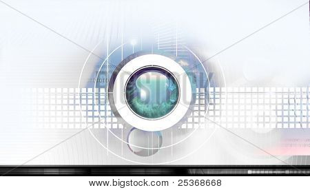 Scientific and hi-tech concept. abstract technology background