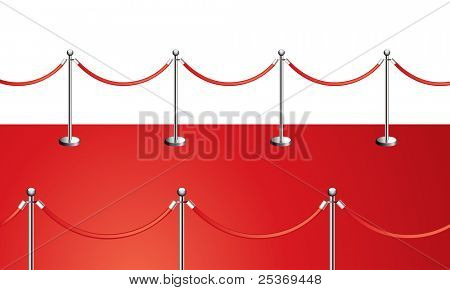 red carpet frame vector illustration isolated on white