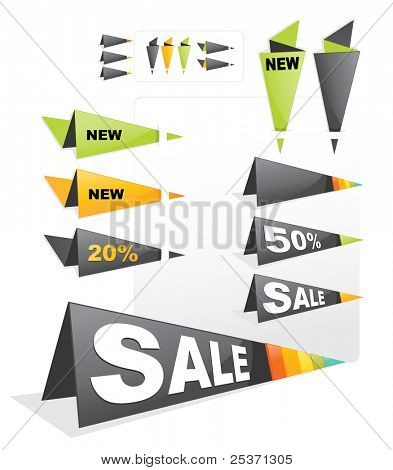 sale tag sticker label origami