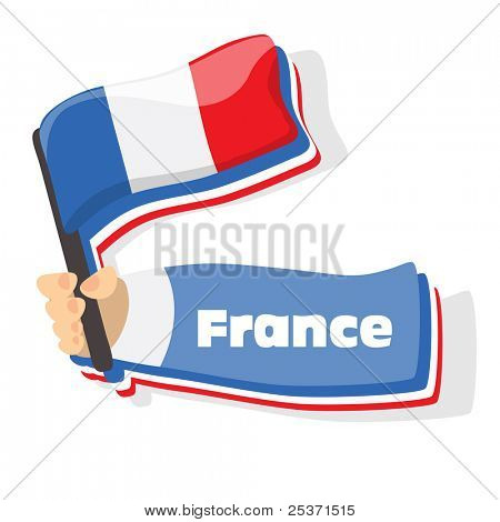Flag of france icon, vector flags of europe series.