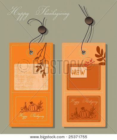 thanksgiving greeting card label