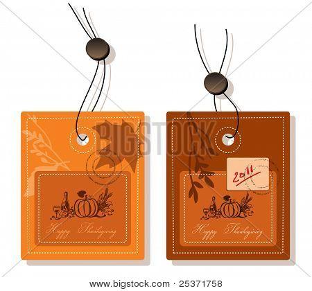 thanksgiving greeting card label