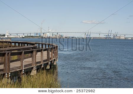 View Of Interstate 526 Bridge In North Charleston, South Carolina