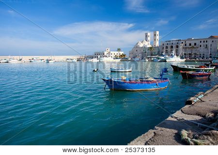 Molfetta Harbour with Duomo