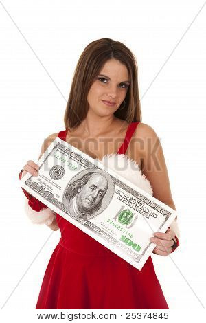 Mrs Santa With Big Money