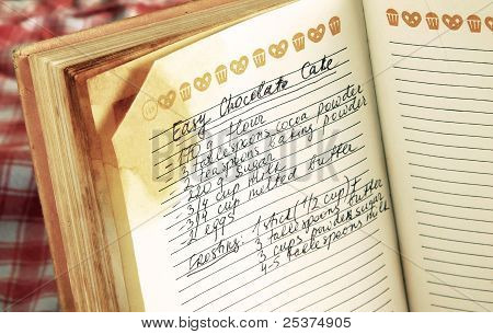 Recipe In Cookbook