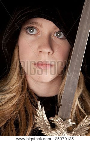 Girl Face Sword