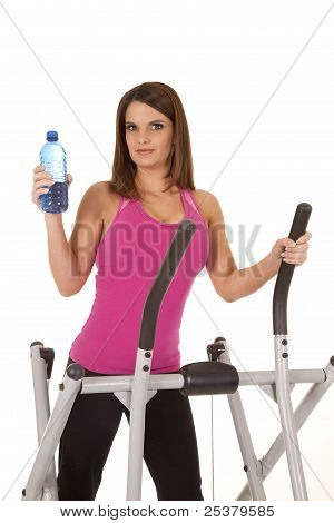 Woman Working Out Pink Water