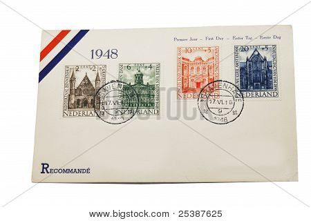 Dutch First Day Envelope Of 1948