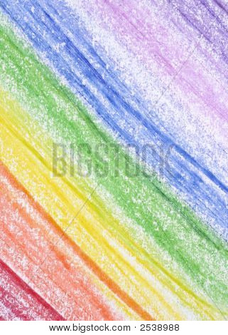 Crayon Rainbow Background