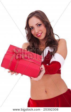 Sexy Santa haciendo sorpresa para todos ustedes