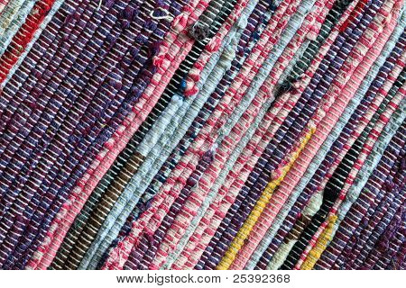 Rag Rug Carpet Close Up