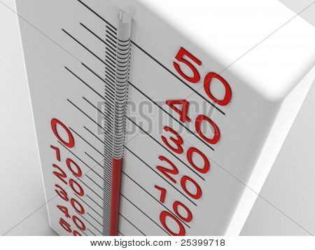 thermometer. 3d