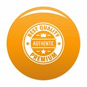 Best Quality Logo. Simple Illustration Of Best Quality Vector Logo For Any Design Orange poster