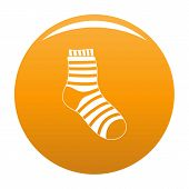 Fuzzy Sock Icon. Simple Illustration Of Fuzzy Sock Vector Icon For Any Design Orange poster
