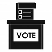 Vote Election Box Icon. Simple Illustration Of Vote Election Box Icon For Web Design Isolated On Whi poster