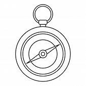 Compass Icon. Outline Illustration Of Compass Icon For Web Design Isolated On White Background poster