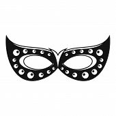 Italian Carnival Mask Icon. Simple Illustration Of Italian Carnival Mask Icon For Web Design Isolate poster