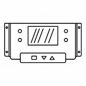 Digital Panel Icon. Outline Illustration Of Digital Panel Icon For Web Design Isolated On White Back poster