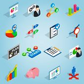 Isometric Business Plan Icons Set. Universal Business Plan Icons To Use For Web And Mobile Ui, Set O poster