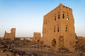 Ruined Multi-storey Buildings Made Of Mud In The District Of Marib, Yemen poster