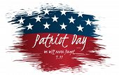 We Will Never Forget Patriot Day Vintage Label Design. 9/11 Patriot Day Background, Patriot Day Sept poster