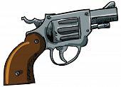 Illustration of a snub nose revolver poster