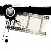 Постер, плакат: Векторные гранж кинопленки и черной краской на белом фоне