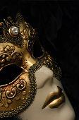 picture of mardi gras mask  - venetian mask - JPG