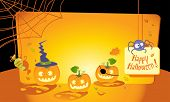 halloween greeting card with copy space