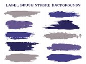 Textured Label Brush Stroke Backgrounds, Paint Or Ink Smudges Vector For Tags And Stamps Design. Pai poster