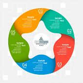 Vector Abstract 3d Paper Infographic Elements.five-pointed Star.circular Infographics poster